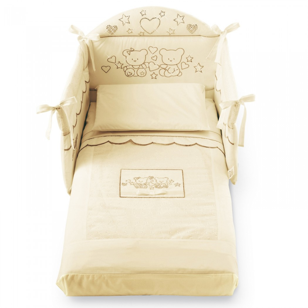 Бортик на половину кроватки